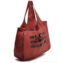 2015 portable pattern Folding Shopping Bag 190DNylon