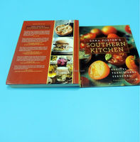 Landscape photo book printing cook book perfect binding with glossy lamination A4 size