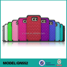 PC+Silicon back cover diamond case for Samsung Galaxy Note 5
