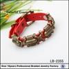 Yiwu manufactor popular red belt bracelet ,leather bracelet wholesale