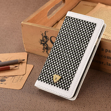 Latest Tweed Fabric & PU Leather Folio Case For iPhone 6, Leather Case With Cardholder PU Leather for iPhone 6 Cell phone Case
