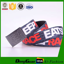 High quality military double ring customize logo print Knit belt