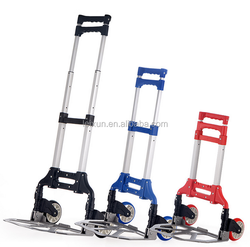 OEM design best price different colors aluminium made portable foldable shopping trolley
