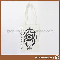 Customized plain white cotton cloth canvas tote bag for shopping