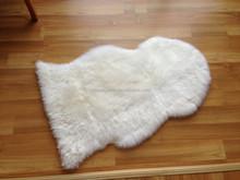 Genuine White Sheepskin Rugs shaped mat for bathroom