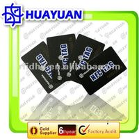 13.56MHZ PVC NFC tag stickered on mobile phone