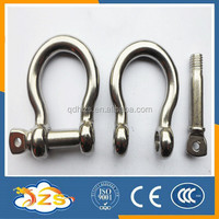SIZE 5MM stainless steel 304 european BOW shape shackle lifting shackle