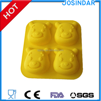 doll molds decoration tools non-stick microwave oven freezer winnie bear custom silicone cake mould cake tools