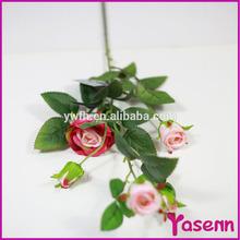 """29 """" tela de seda Artificial plástico de flores de camelia rosa del arte de la decoración de Rose arreglo floral"""