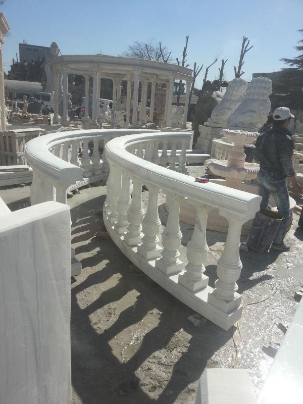 Construcción balaustrada con flores tallas para escaleras ...