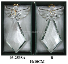 crystal craft angel with skirt glass decoration