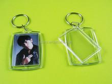 Clear Blank Transparent acrylic keychain photo frame Photo/Art/Paper photo insert DIY acrylic keychain