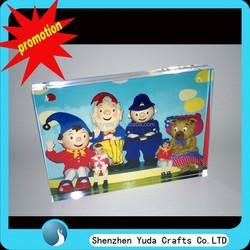 Funny clear acrylic photofunia photo frame , magnetic plexiglass frame for birthday gift wholesale