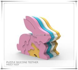 Food Level Animal Rabbit Giraffe Baby Teether Silicone