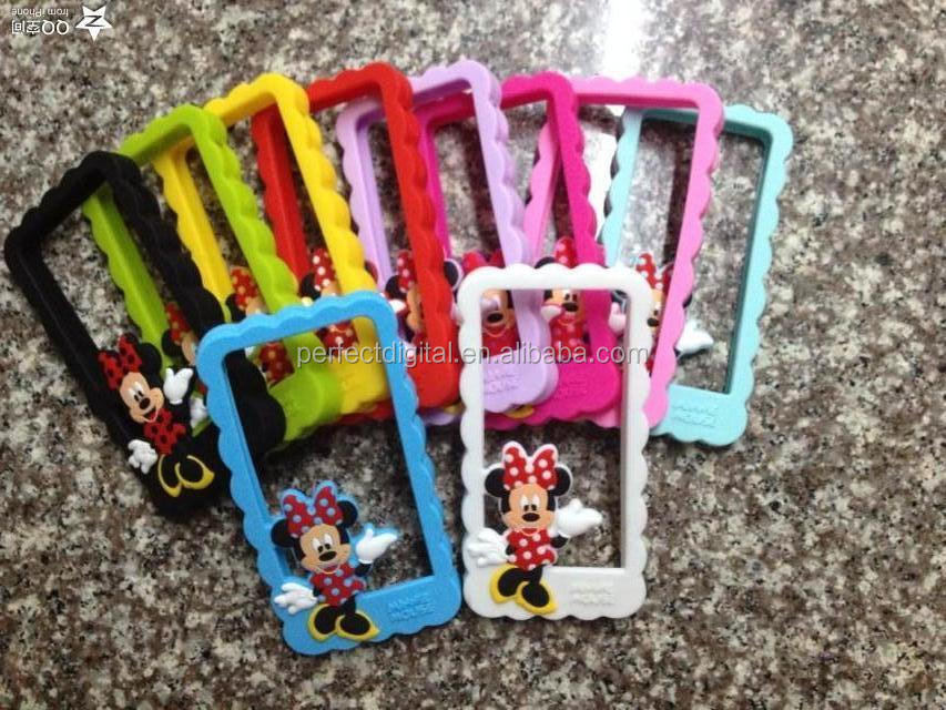 Lively cat border cover silicon bumper case for iphone 4s