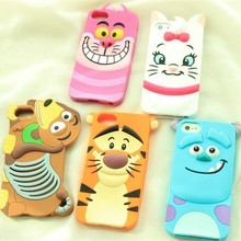 mobile phone case silicone animal 3D mobile case for iphone 6