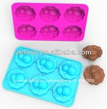 muñeco de nieve molde de pastel de silicona