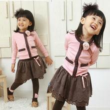2014 nuevo estilo de la moda vestidos de niña de abrigo, ropa de los niños, desgaste de los niños, ropa de niño