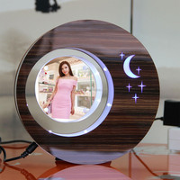 LED suspending in the air magnetic levitation photo frame finely processed send gifts to india