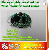 Electronic mini voice recorder chip for toy and gift