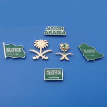 OEM design badge / brooch / emblem / lapel pin for saudi national day gifts