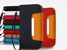 Factory Wholesale, Cheap Wallet Leather Case With Strap For Xiaomi Mi4