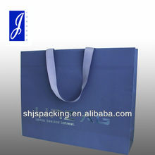 luxury gift paper bag with silver hot stamp