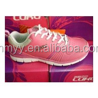 Fashion stock women casual shoes, girl sports shoe for clearance