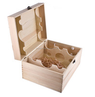 Hot sale customized 2 Bottle wine wooden box with tool boxes carriers cases