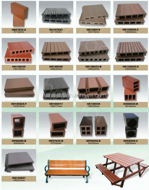 À prova d ' água e anti-derrapante WPC piso decks com material reciclado