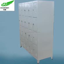 Antique W1370mm 3 tier steel 20 door gym foot locker shoes locker for sale