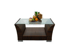 2015 rattan furniture double-ply coffee table
