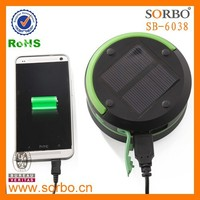 SORBO Most Popular LED Solar Charger with Lantern for Camping,Emergency Phone Charger,Portable Hanging Camping Lantern Light