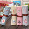 Students Stationery Wholesale Navy Style Folding Canvas Pencil Case Cheap Price