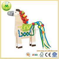 2015 Educational Toys Lacing Pony Wooden Beads Toddler Toys for Children