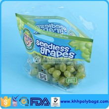 High Quality Stand up Ziplock Plastic Grapes Bag