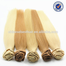 2015 Hot Sale 100% Virgin Brazilian full head clip in hair extensions free sample , full cuticle remy hair extensions