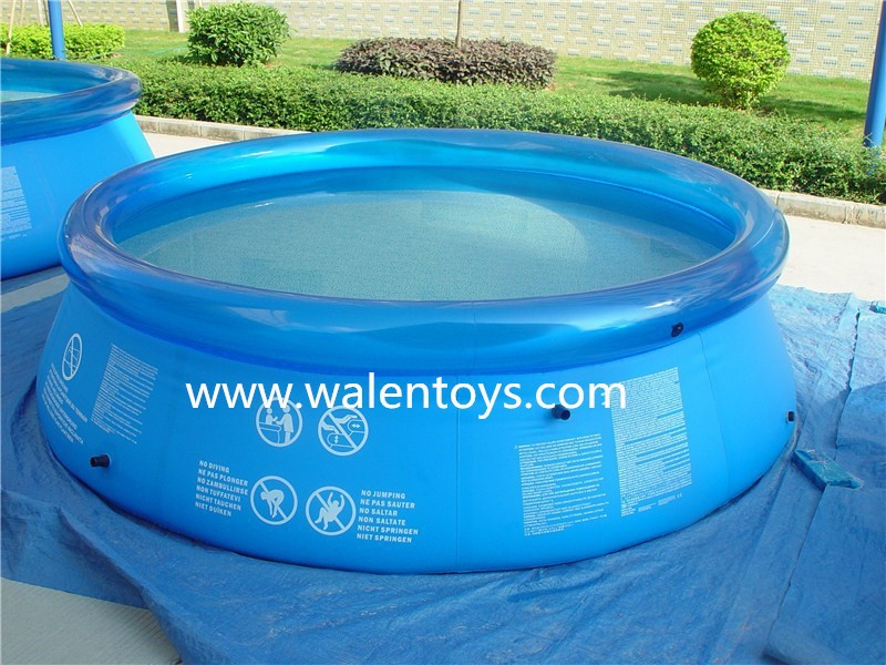 Easy set above ground inflatable swimming pool with pump for Inflatable above ground pools