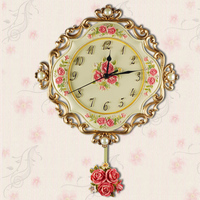 Hot Rushed Sale 2015 Balcony/courtyard clock gift Two-piece New Classical vintage home decor resin clock 1.3kg 33cm BY001