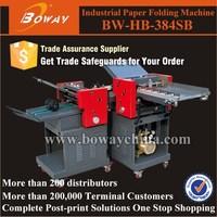 Boway service 384SB with cross fold 9 ways Paper Folding Machine