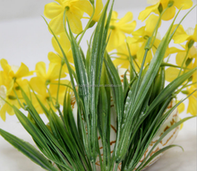 2015 silk&plastic artificial daffodil flowers with lowest price