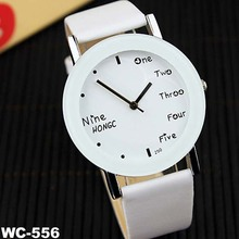 New popular student lovers quartz watch couple leather watch