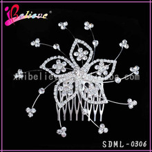 Full diamond women hair comb bling flower hair ornament accessories hair flower
