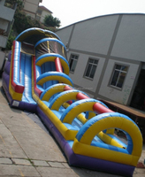 inflatable jumping water slide for sale, giant inflatable silde with tunnel,slide for amusement park