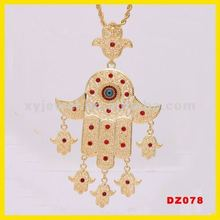 Wholesale good luck pendants hamsa necklace pendent raven charms