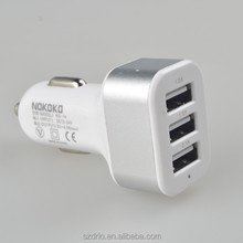 wholesale universal portable 5 v 2.1a triple port 3 usb car charger adapter built-in smart IC for all cellphone mp5 player radio