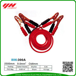 Durable using car start booster cable with clamps