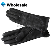 GSG Women Genuine Goat Soft Leather Wool Lined Gloves with decorations