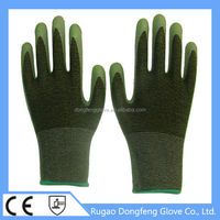 Seamless Knitted Anti Slip Grip Latex Palm Coated Bamboo Fiber Safety Gloves With Excellent Air Permeability