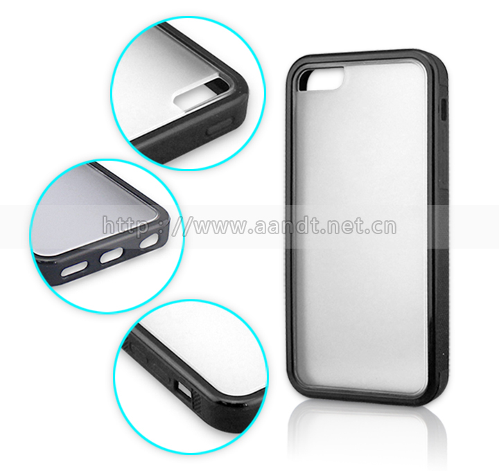 2014 Custom Black Color Hard PC Cases For iPhone 5c Retail Smartphone Covers